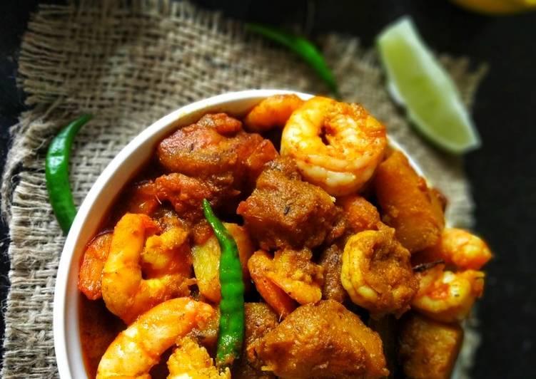 Kumro-Chingri'r Dalna(Pumpkin and Prawn Curry)