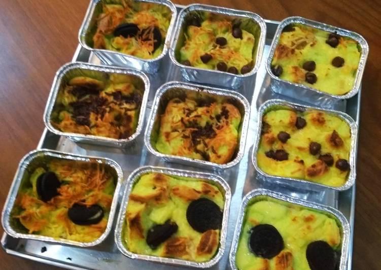 Bread Pudding/Pudding Roti with 3 Topping #RabuBaru