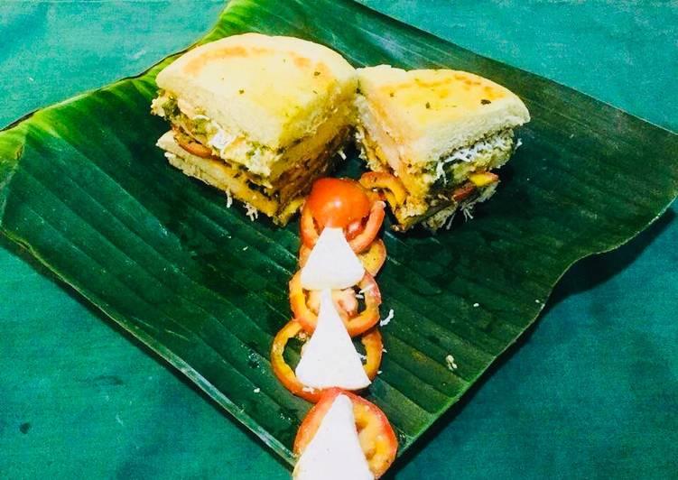 15 Minute Recipe of Homemade Kulcha Sandwich