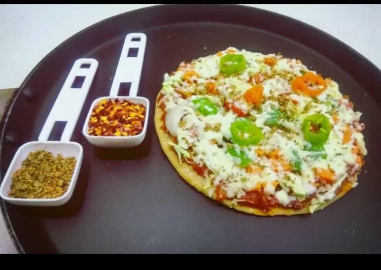 Simple Way to Prepare Quick Wheat Flour Pizza