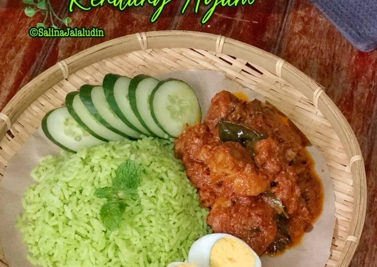 Nasi Lemak Pandan Rendang Ayam - velavinkabakery.com