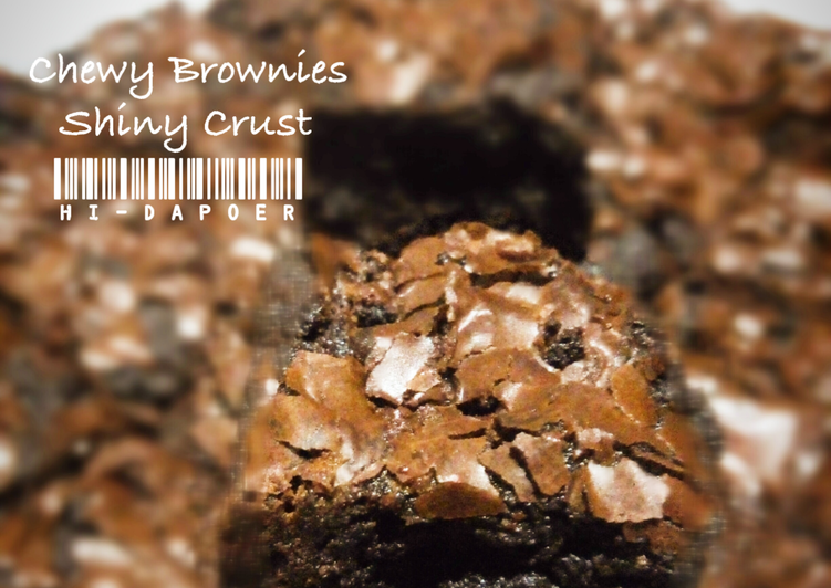 Chewy Brownies Shiny Crust (Oven Tangkring)
