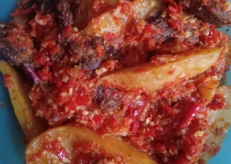 Daging + Kentang Balado