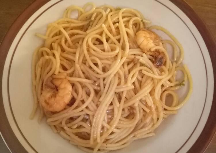 Cara membuat Spagheti udang