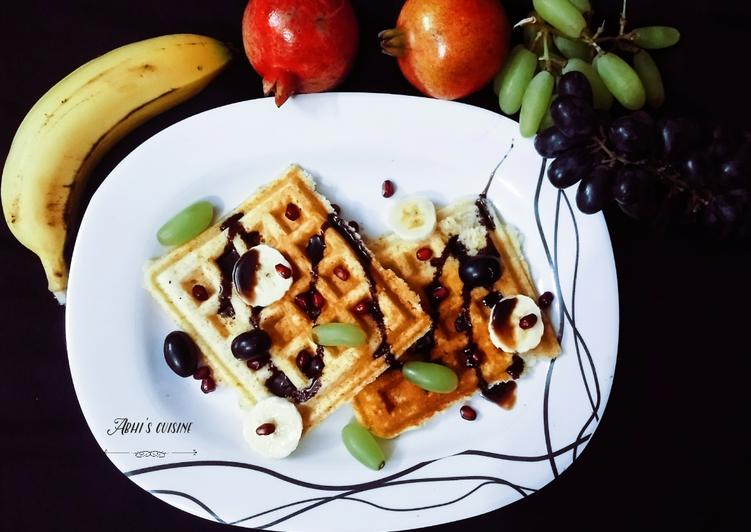 Easy Belgian fruit waffle