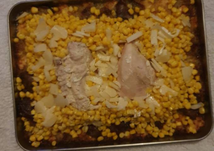 C.J.P. Chicken and Sweetcorn Tray Bake