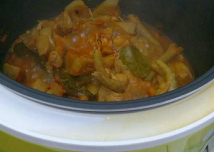Gudeg Ceker rice cooker