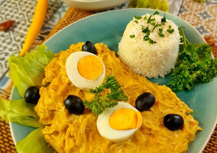 Ají de Gallina - Peruanischer Hühncheneintopf