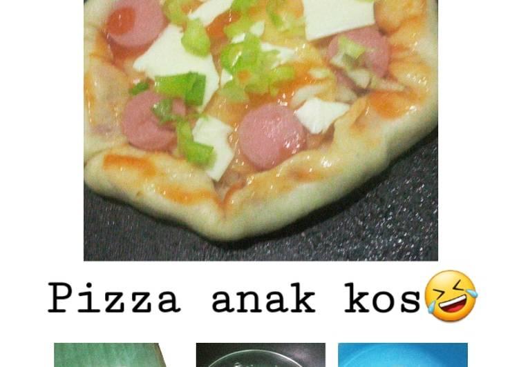 Pizza Teflon ala Anak Kos (minimalis) #anakkos