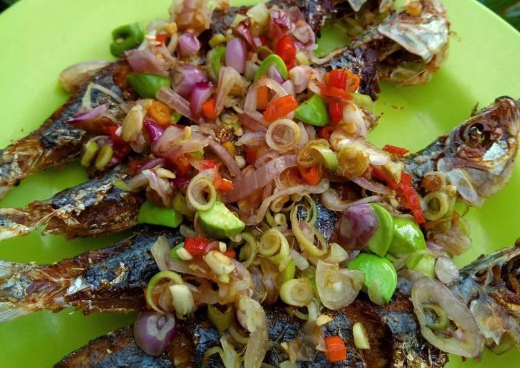 Ikan Sarden Sambal Matah pete
