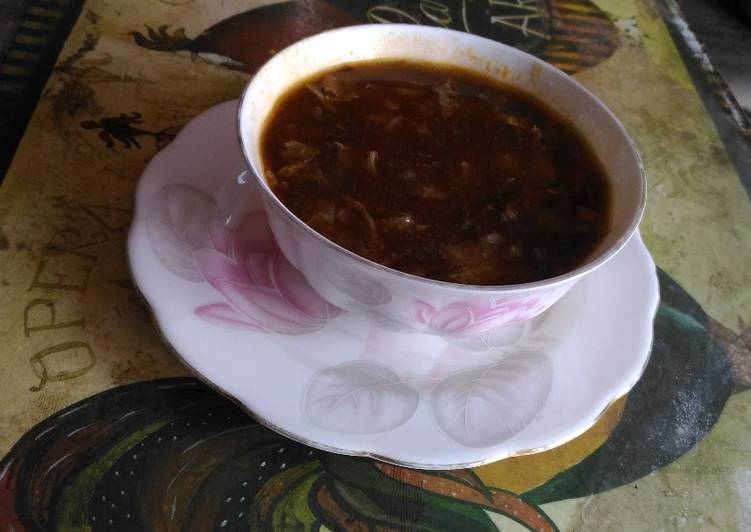 Corn soup in chinese style