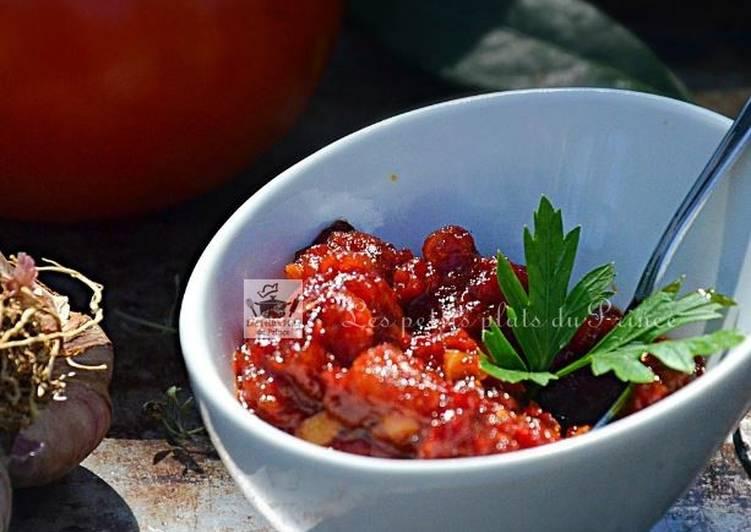 Confit de tomate au vinaigre et au miel