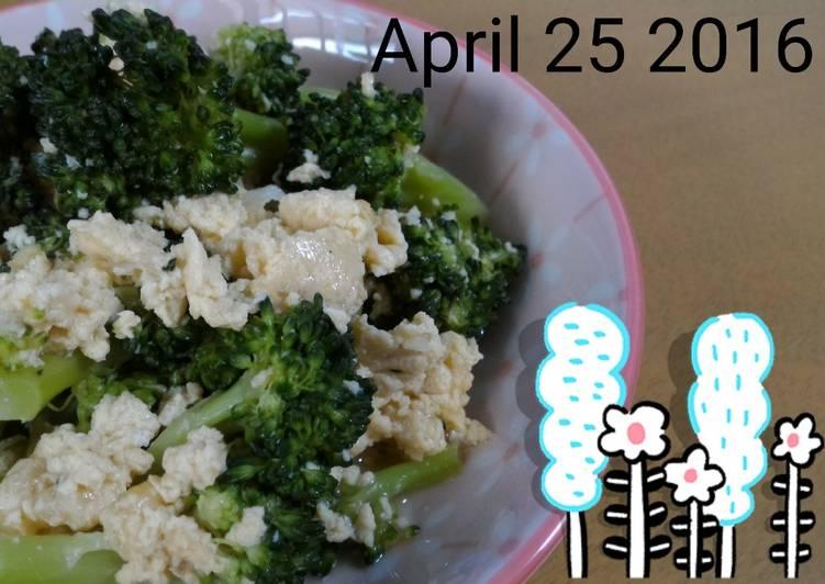 Menu sehat Brokoli Telur