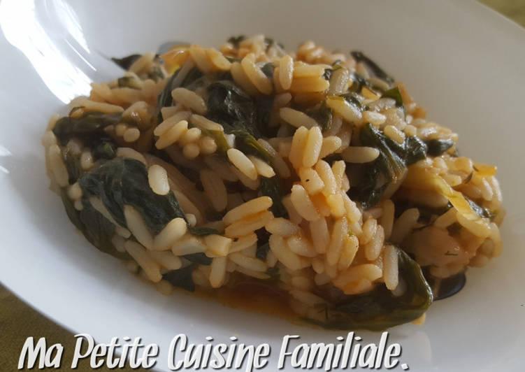 Spanakorizo, riz aux épinards grec