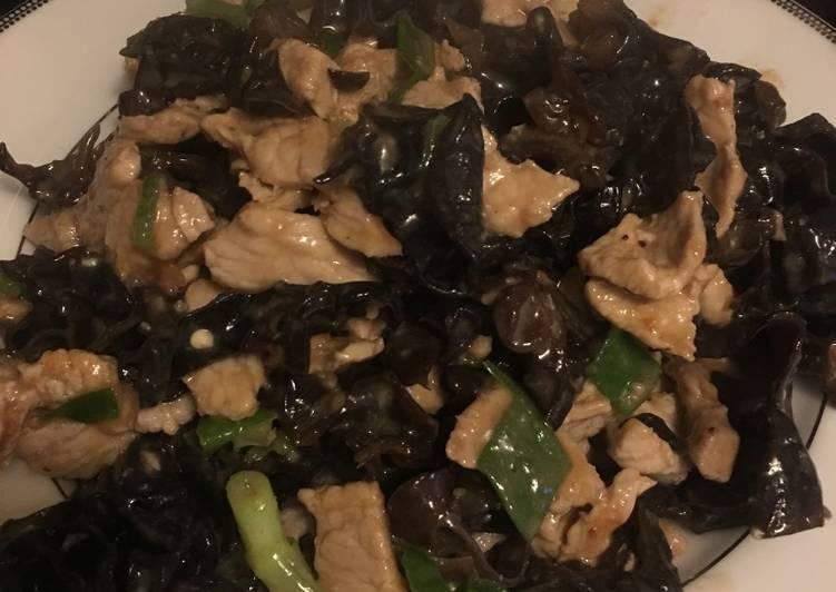 Stir fry Ear mushroom (overnight, c 15min) keto