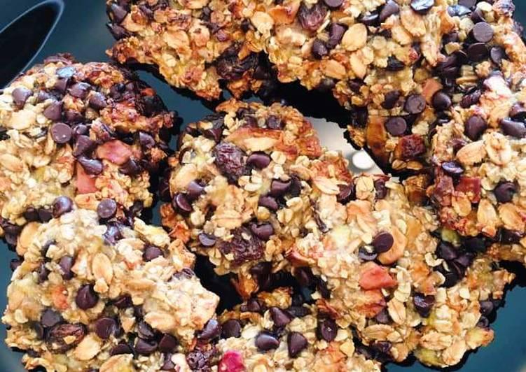 Recipe: Appetizing Cookies Muesli aux Bananes et Pépites de Chocolat Noir