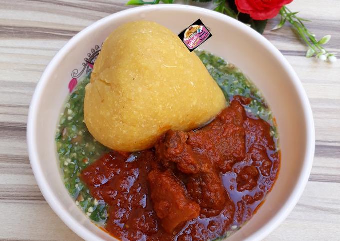Eba, Okro Soup & Stew