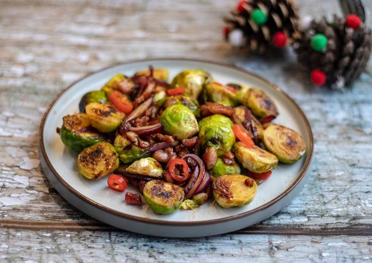 Asian style grilled Brussel Sprouts 🌲