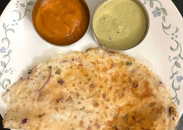 Recipe of Award-winning Onion Rava Dosa