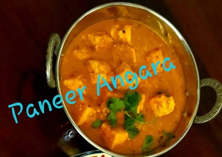 Paneer Angara (No onion and garlic) with Naans