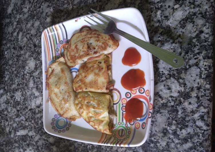 Non-veg STUFFED PANCAKE : week 2 :  KIDS SPECIAL
