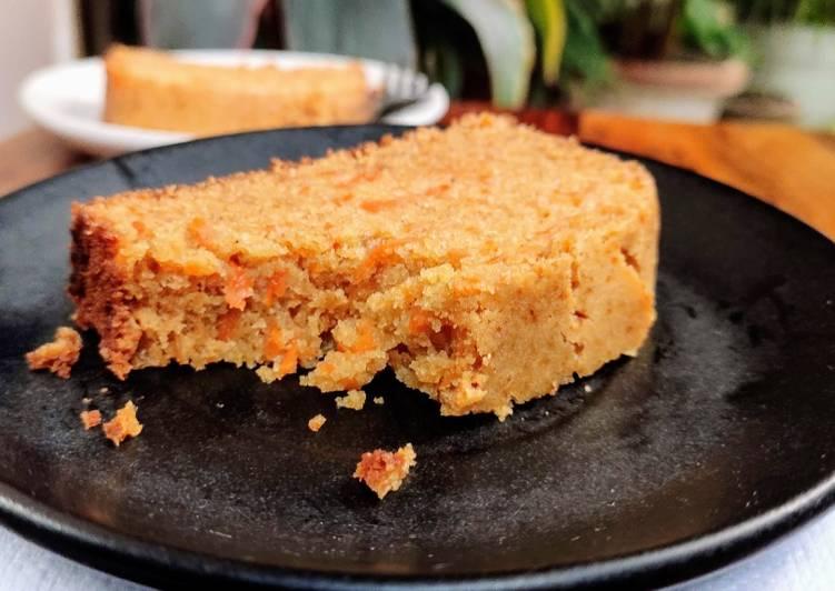 Whole wheat eggless Carrot cake