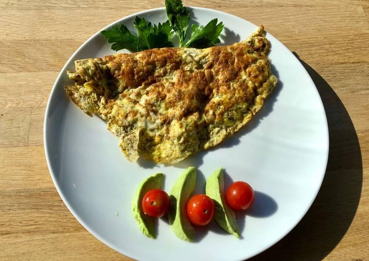 Za'atar and feta omelette