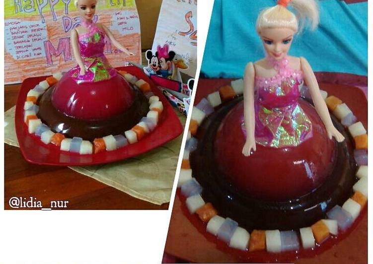 Puding barbie coctail - cookandrecipe.com