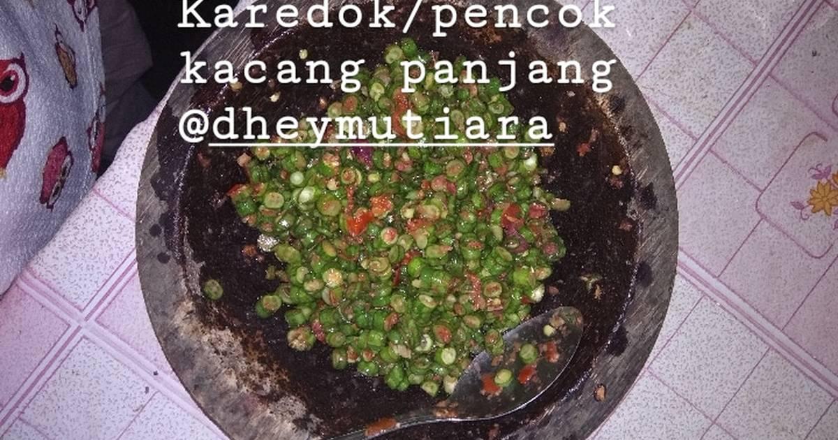 Resep 13 Karedok Pencok Kacang Panjang Oleh Dhey Mutiara Cookpad