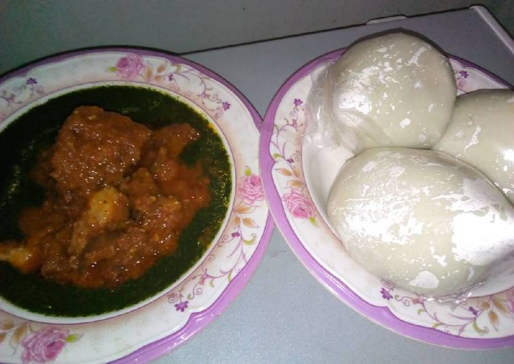 5 Minute How to Prepare Diet Perfect Pounded yam with ewedu and stew