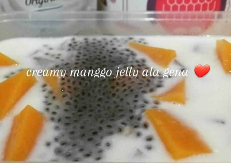 Creamy manggo jelly