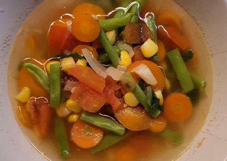 Langkah Mudah untuk Membuat Sop sayuran (cocok untuk vegetarian), Sempurna