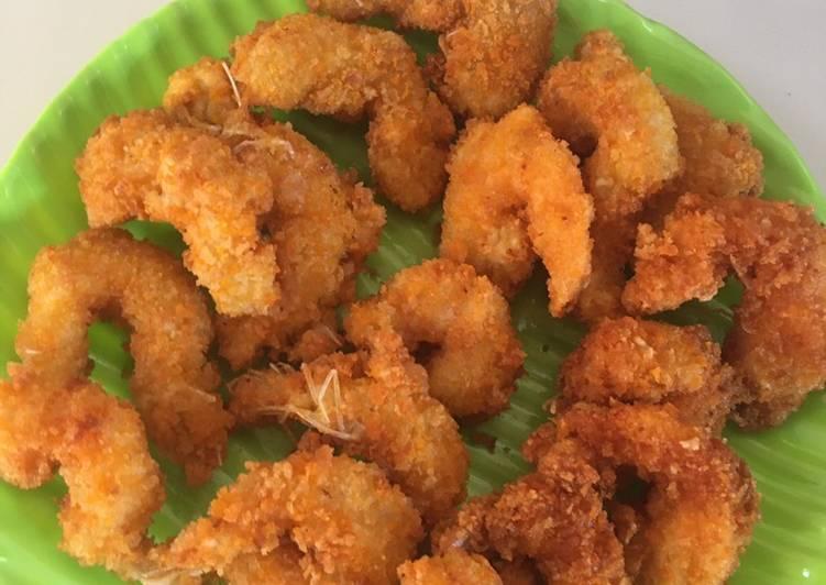 Resep Udang goreng di balut tepung roti otw gosong 🤣🤣🤣 Paling Gampang