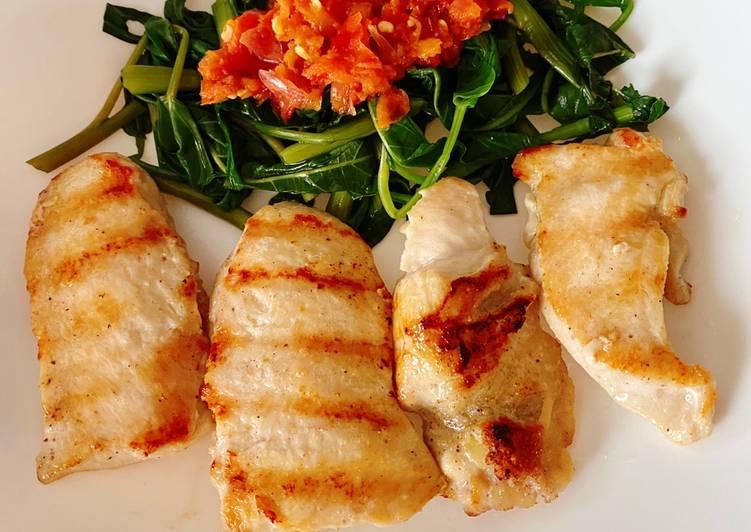 Ayam bakar teflon (DIET)