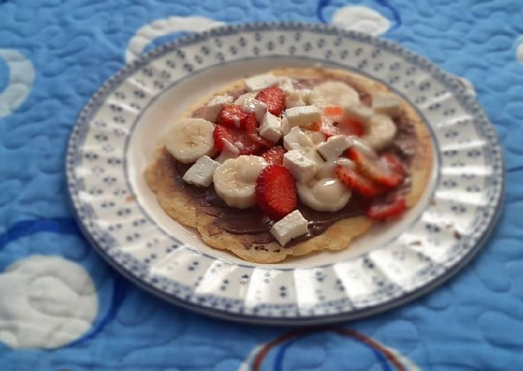 Strawberry and banana crepes