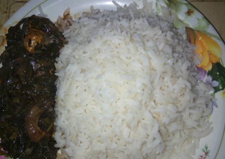 Vegetable soup with white rice