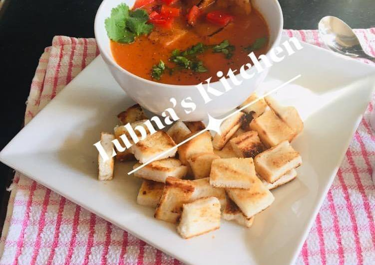 Easiest Way to Cook Tasty Roasted Red Pepper and Tomato Soup