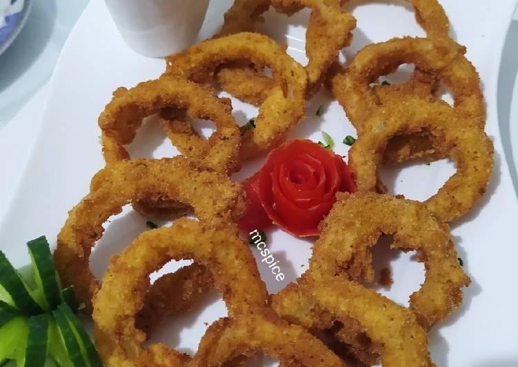 How to Prepare Quick Crispy onion rings