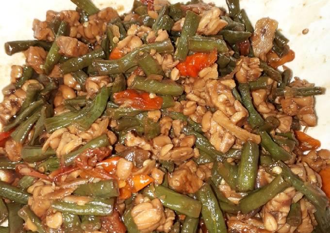 sambal goreng basah kacang panjang dan tempe - resepenakbgt.com