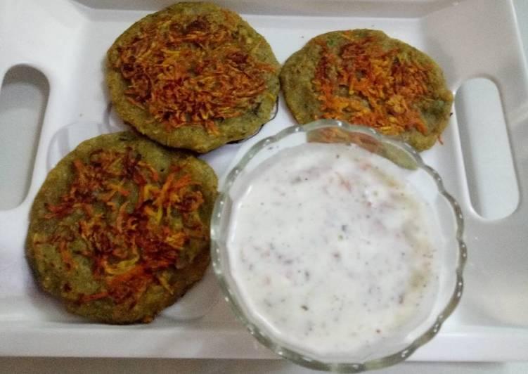 Carrot & spinach pancake