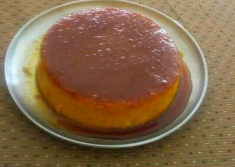 Recipe: Perfect Eggless caramel bread custard pudding