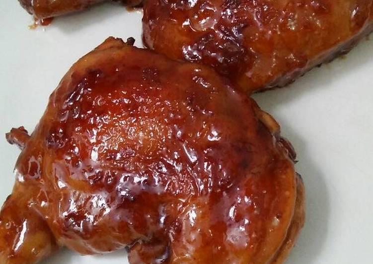 Ayam Teriyaki bebas minyak aroma bawang putih