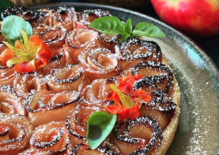 Le moyen le plus simple de Préparer Savoureux Tarte aux pommes en rosace