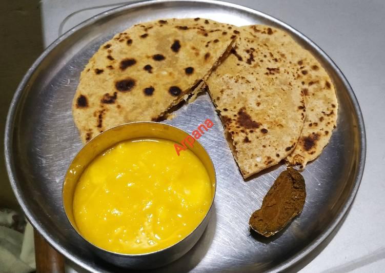 15 Minute Recipe of Fall Makuni or sattu paratha
