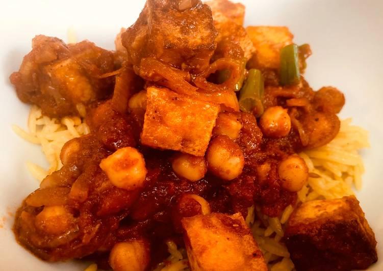 Chickpea and Tofu Curry
