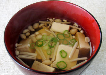 Easiest Way to Recipe Delicious Tofu  Enoki Clear Soup
