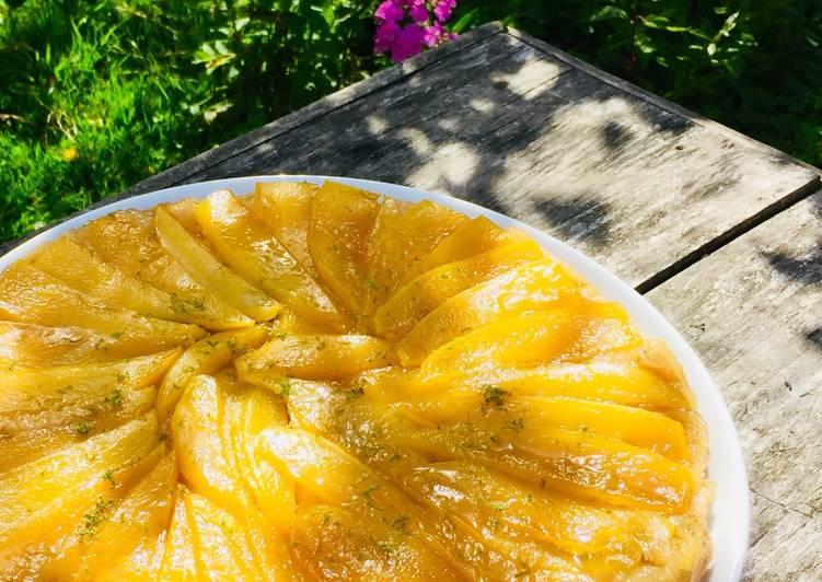 Comment Servir Tarte tatin aux mangues et citrons verts