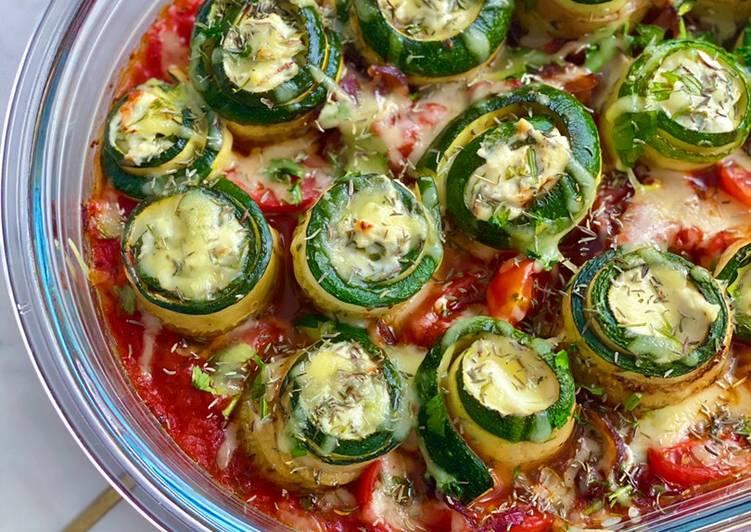 Easiest Way to Prepare Appetizing Roulé de courgettes et au fromage frais