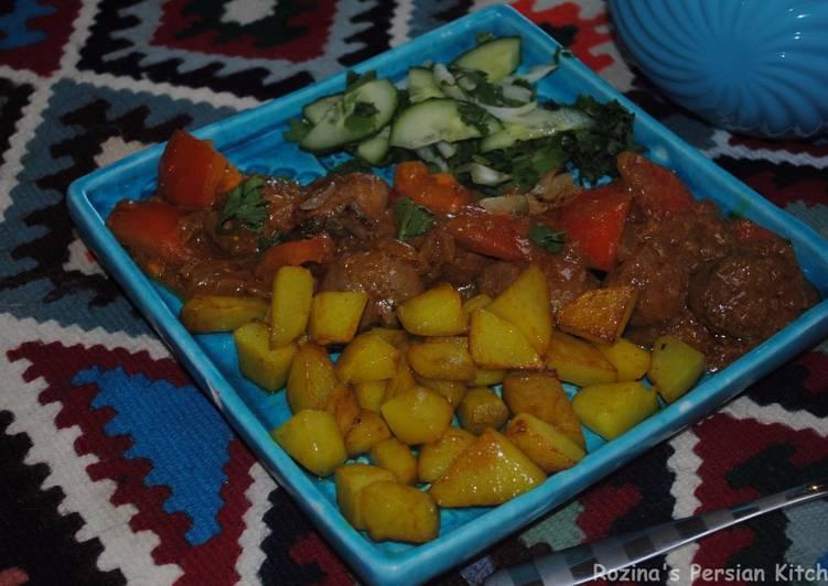 Persian lamb kidneys with tomato sauce