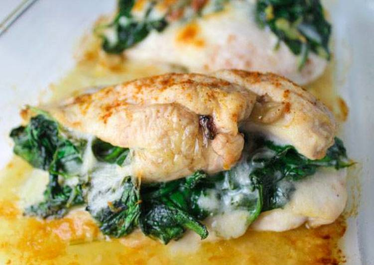 Baked Spinach Provolone Chicken Breast
